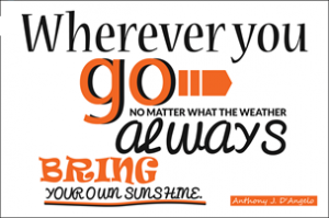 If you have sunshine to share then volunteer with us