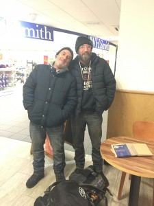 two homeless friends